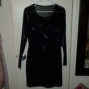Express Black Sequin Dress